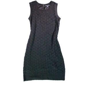 Banana Republic Black Crocheted Dress M